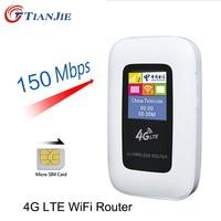 LTE WCDMA GSM Unlocked Wireless Router Pocket Di Động WiFi Hotspot 3 Gam 4 Gam WiFi Router với SIM Khe Cắm Th