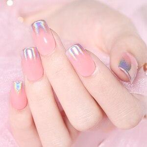 Image 3 - 0.5g glitter per unghie Laser olografici arcobaleno Nail Art polvere punta per unghie cromo polvere decorazioni per Nail Art