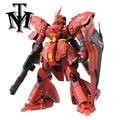 Móvel Anime Mobile Suit MSN-04 SAZABI Gundam Daban DIODO EMISSOR de luz MG 1/100 modelo de Robô Puzzle crianças figuras de ação de brinquedo montado presente