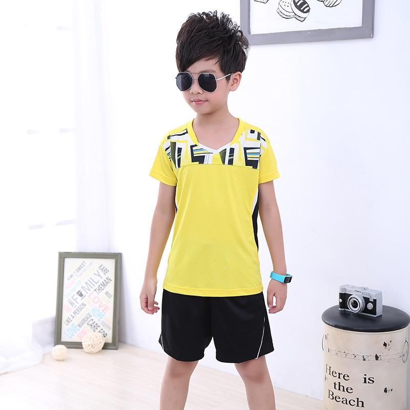 Новые Детские Теннис Одежда для мальчиков спортивная одежда, спортивная детская настольным теннисом Одежда для девочек, спортивные Бег Бад...