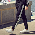 BIG GUY Pantalon Deportivo Hombre Plus Size Fashion Three Striped Male Pants 2017 Autumn Casual Sweatpants Men 1271