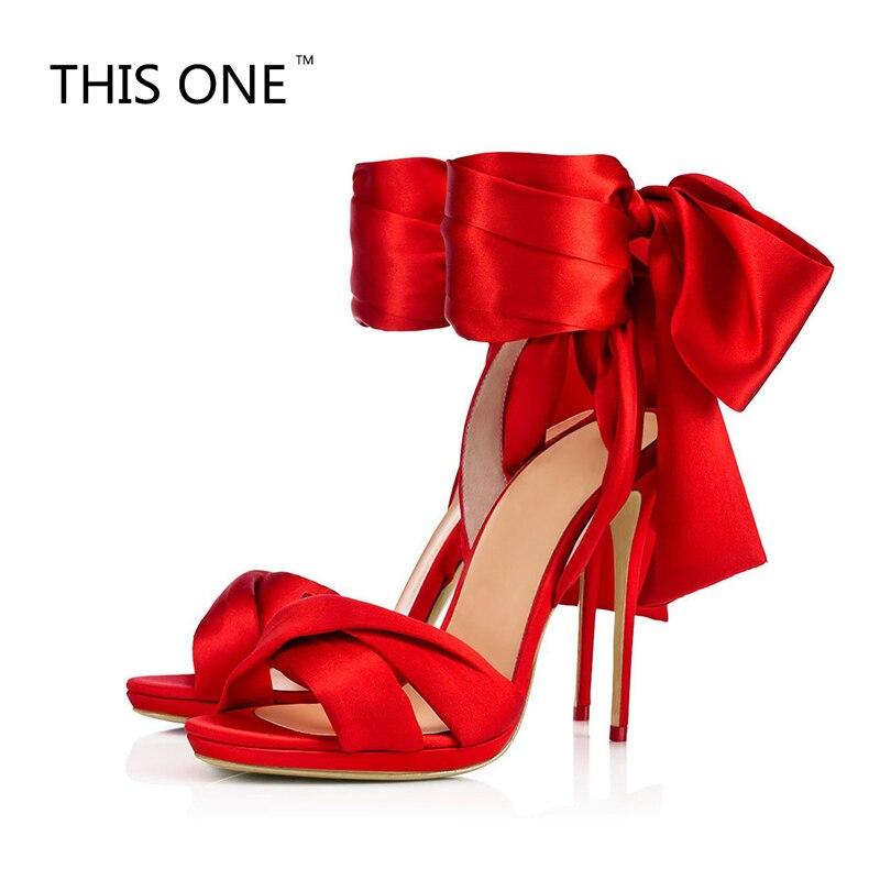 Женские пикантные туфли на высоком каблуке черный Босоножки из атласа Ремешок на щиколотке красное платье каблуки Для женщин Летняя обувь