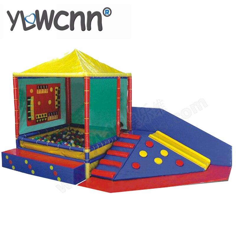 Aire de jeux souple pour enfants, escalade d'un progiciel, équipement de jeu souple