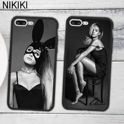 Ciciber популярные звезды Rihanna Ariana Grande узор Дизайн чехол для телефона для iPhone 7 8 6 6s Plus X Черный Мягкие TPU и жесткий PC Обложка