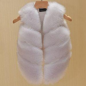 Image 2 - 2017 Fashion Childrens Clothing Faux Fox Fur Vest European Style Toddler Baby Girls Waistcoat Winter Coat TZ135