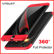 For iPhone 6 case Plus cover Vpower Three-In-One PC 360 Full Protector Cases Without Tempered Glass