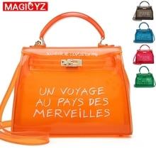 19ddca0269b23 Klar Transparent PVC Frauen Messenger Tasche Luxus Handtaschen Frauen  Taschen Designer Gelee Geldbörse sac ein haupt