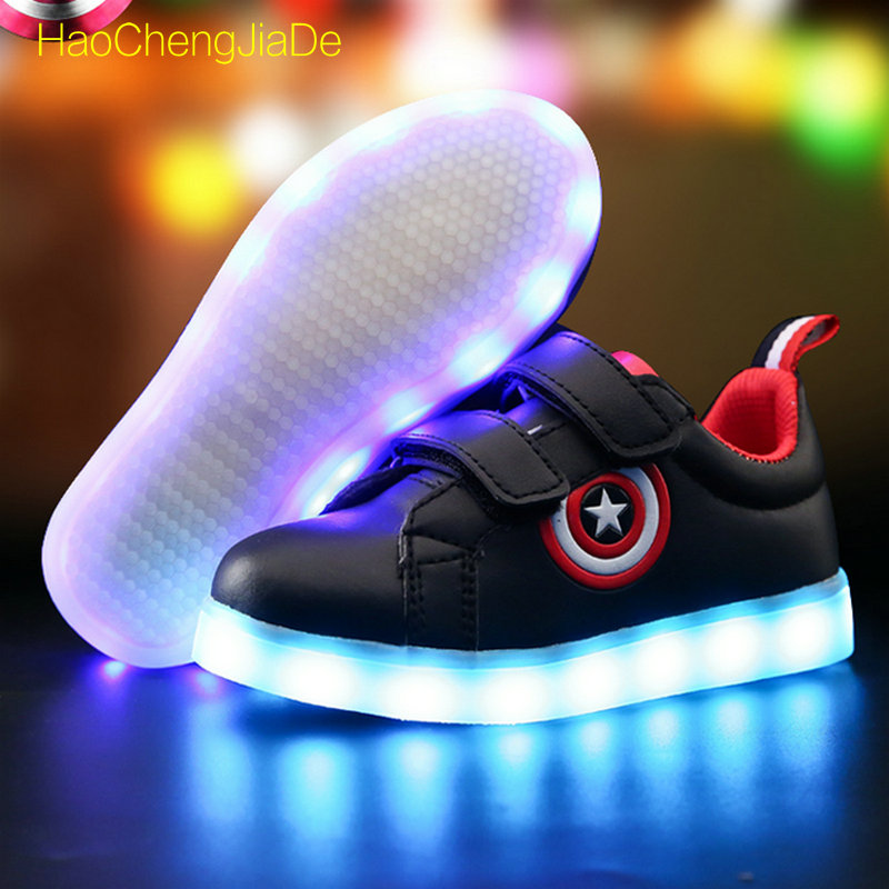 Children Glowing  sneakers LED Light New Fashion kids Luminous Shoes Up Casual 7 Colors USB charge simulation For Boys girlsChildren Glowing  sneakers LED Light New Fashion kids Luminous Shoes Up Casual 7 Colors USB charge simulation For Boys girls