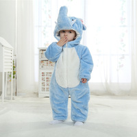 Winter Jumpsuit Playsuit Outfits 0 24m Outfit Winter Overalls For Baby Flannel Outer And Cotton Lining Elephant Baby Clothes