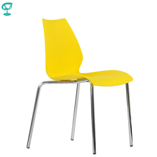 95466 Barneo N-234 Plastic Kitchen Interior Stool Chair for a Street Cafe Chair Kitchen Furniture Yellow free shipping in Russia