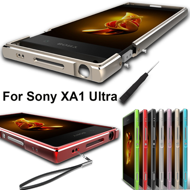 for sony xperia xa1 ultra case original aluminum alloy metal bumper