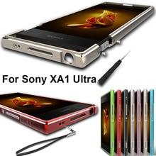 For Sony Xperia XA1 Ultra case Original Aluminum Alloy Metal Bumper for Sony Xperia XA1 Ultra Metel Frame + lanyard screwdriver