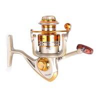 Vissen Carp Spinning Fishing Reels Wooden Handle Metal Spool 10BB Stainless Steel Shaft Carretilha Pesca Fishing