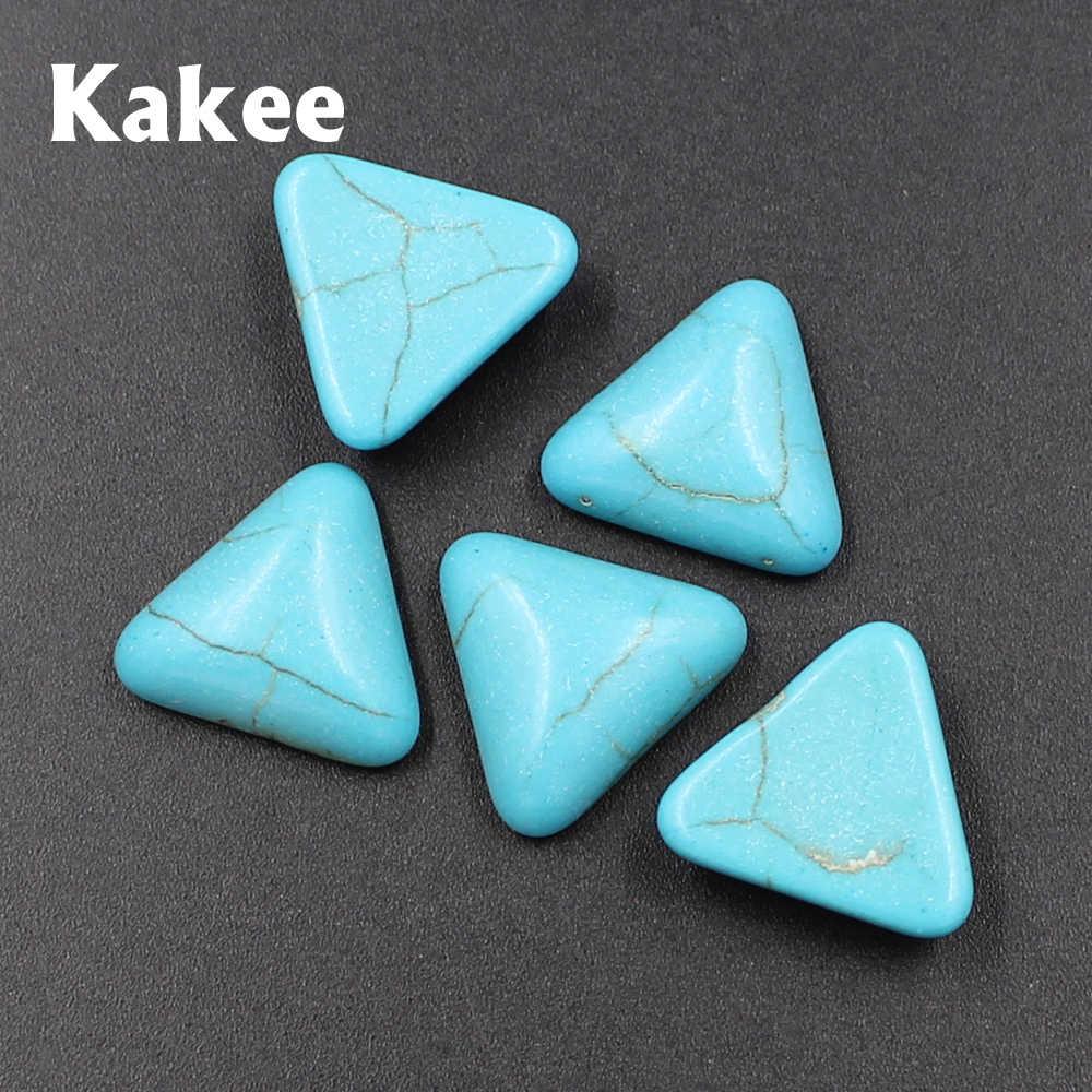 Kakee Charms Triangolo posteriore Piana Naturale Gem Stone Beads per Monili Che Fanno FAI DA TE Fatti A Mano Anelli Cabochon Accessori Turchesi