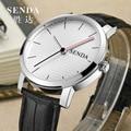 SENDA Brand Fashion Simple Businessmen Leather Strap Dress Watches Import Quartz Men Statement Wristwatch Analog Relojes NW7416