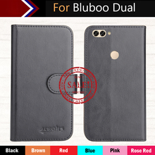 "Factory Direct! Bluboo Dual Case 5.5"" 6 Colors Dedicated Leather Exclusive Special Phone Cover Crazy Horse Cases+Tracking(China (Mainland))"