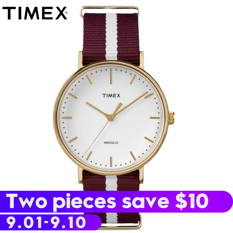 все цены на 2018 Real Promotion For Timex Unisex Men Women Watches Tw2p976 Weekender Indiglo Luminous Waterproof Nylon Strap Quartz Watch онлайн