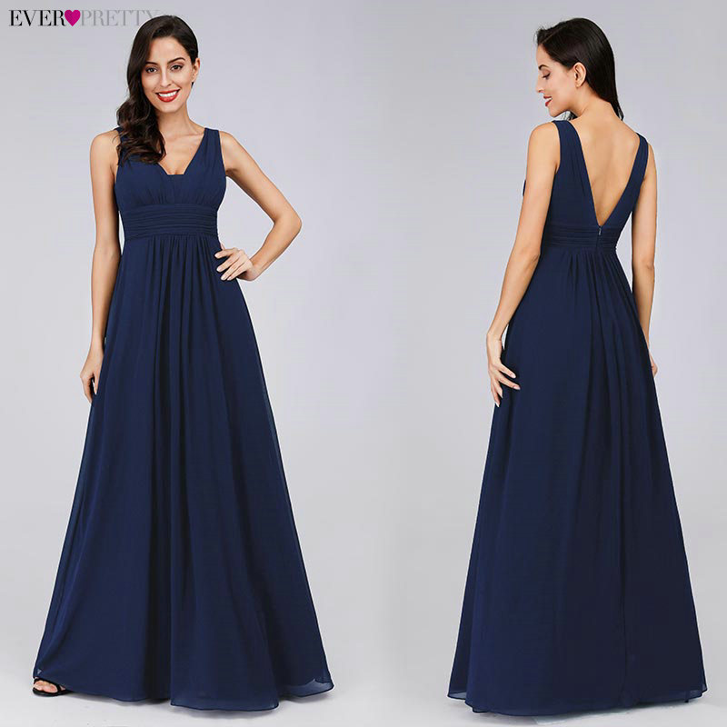 Image 3 - Formal Evening Dresses Ever Pretty EP08110 Elegant Black Deep V neck Ruched Bust Maxi Woman 2019 Elegant Evening Dresses Gowns-in Evening Dresses from Weddings & Events