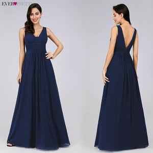 Image 3 - Robes de soirée formelles Ever Pretty EP08110 élégant noir profond col en v ruché buste Maxi femme 2020 élégant robes de soirée robes