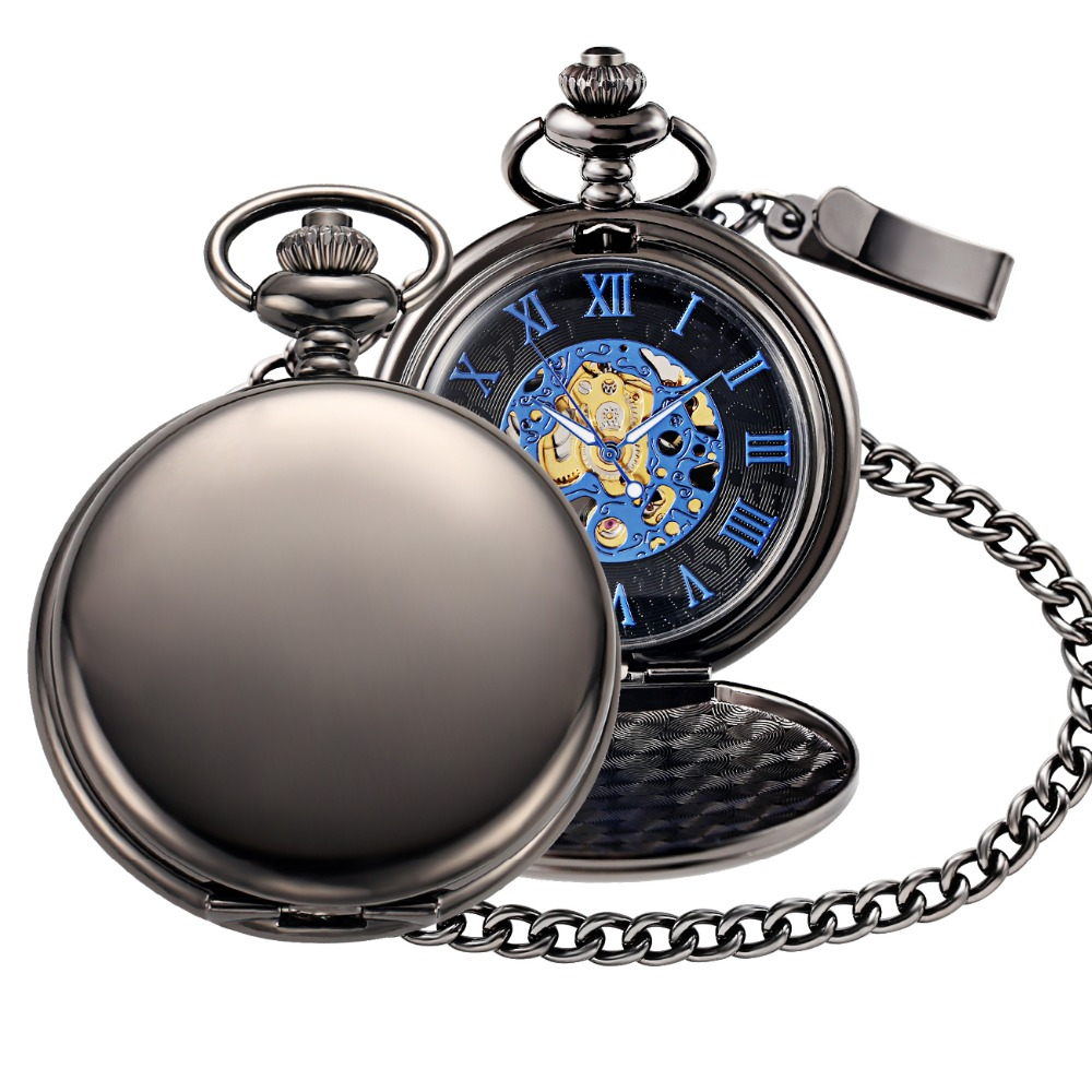 happy birthday mechanical pocket watch-2