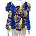 Африканские женщины печати dashiki одежда двухэтажные рукавом личные пользовательские fashion party/weding африке одежда