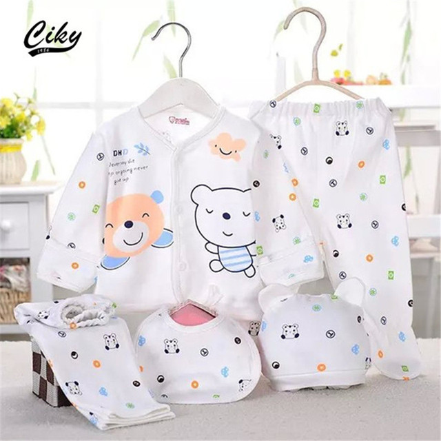(5pcs/set)Newborn Baby set 0-3M Clothing Set Boy/Girl baby Clothes  100% Cotton Cartoon Underwear B-003