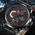 2016 NAVIFORCE Relógios Homens Marca De Luxo Moda Casual relógios de Pulso de Quartzo de Couro À Prova D' Água Esportes Relógio Relógio Homem