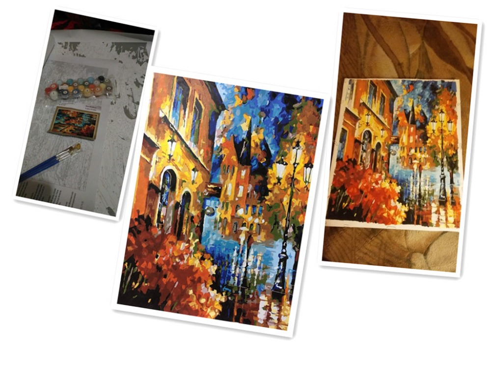 WEEN City Pictures By Numbers Canvas Arts 40x50cm DIY Hand Painted Oil Painting Coloring By Numbers Cuadros Decoracion Artwork in Painting Calligraphy from Home Garden
