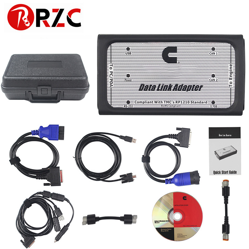 Free Shipping INLINE 6 Data Link Adapter Heavy Duty Diagnostic Tool Scanner Full 8 cable Truck