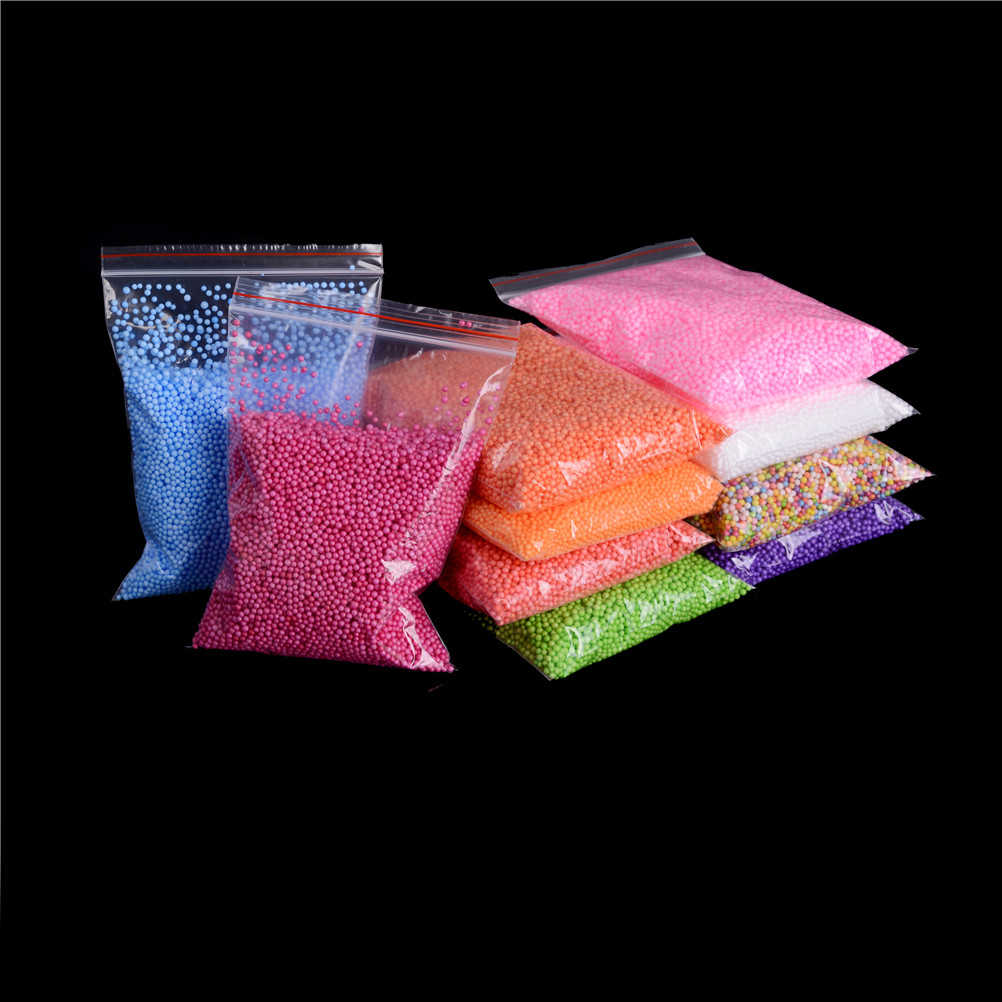 1 Bag Baby DIY Slime Snow Mud Particles Accessories Balls Small Tiny Foam Beads For Floam Filler For DIY Supplies Kids Toys