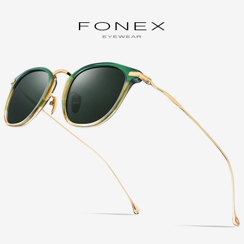 Acétate pur B titane lunettes de soleil polarisées hommes marque Designer hommes rétro Vintage carré mâle lunettes de soleil pour les femmes nuances 839