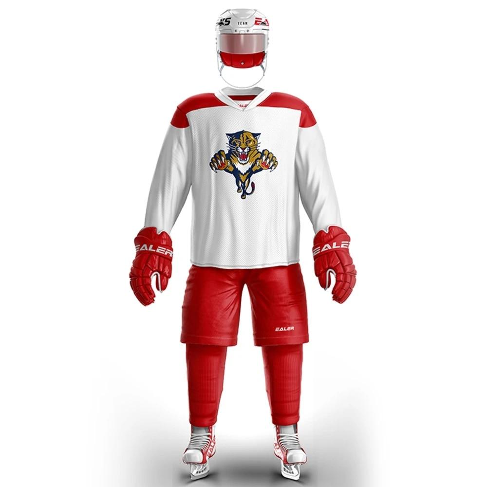 US $21.59 10% OFF|EALER Free Shipping Vintage Ice Hockey Training Jerseys Print Panthers Logo Spot Cheap high quality H6100 10|Hockey Jerseys| - ...