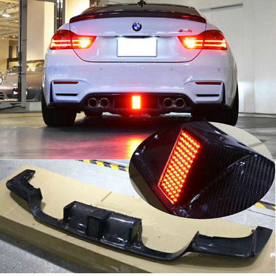 M4 Style Jet Black w// Metal Red-Line Trunk Spoiler For 2014 BMW F80 M3 Only