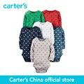 6-Pack de carter do bebê dos miúdos das crianças Bodysuits Originais 126G377, loja vendido por carter China offcial