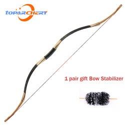 Arquería 30 ~ 50lbs tiro con arco tradicional arco recurvo caza al aire libre tiro arco largo