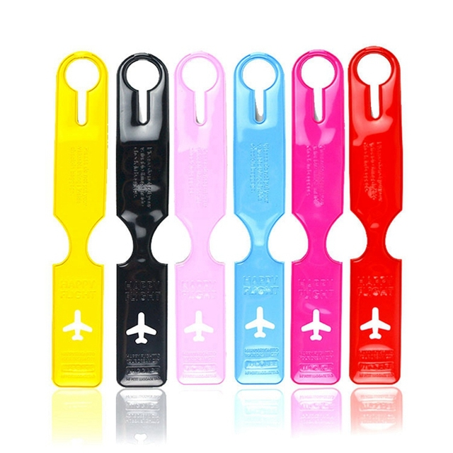 Long Colorful Silicone Luggage Tag
