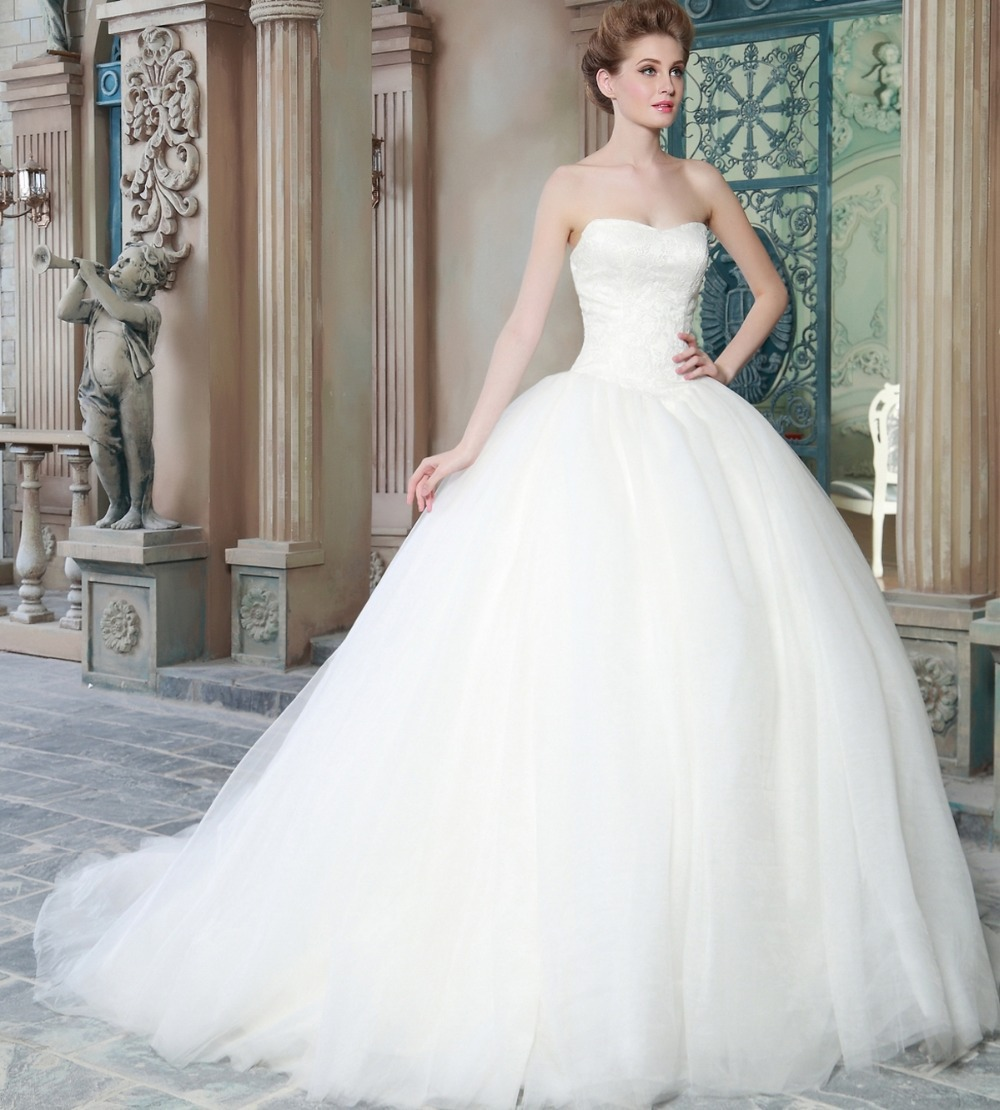 Sleeveless A line Wedding Dresses Sweetheart Bridal Wear Wedding ...