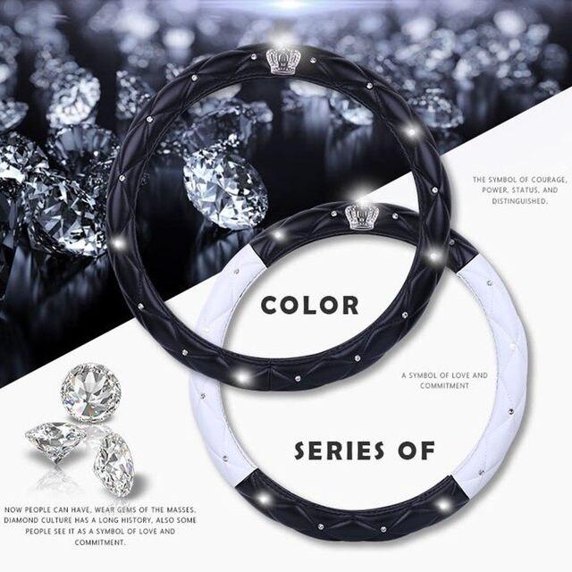 Online Shop Fashion Lady Diamond Car Auto Series Steering Wheel