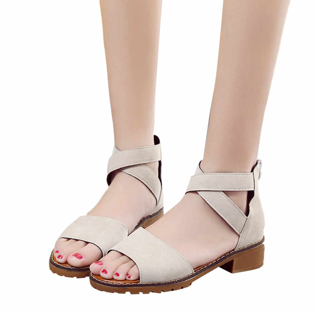 SAGACE Roman Sandals Women Flat  Female Shoes Fashion Beach Shoes For Ladies Sandal Casual Gladiator Roman Sandals Ladies Flat
