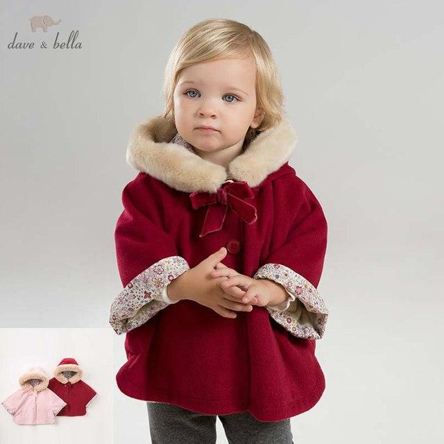DBM7753 dave bella ฤดูใบไม้ร่วงฤดูหนาวเด็กทารก coat เด็กวัยหัดเดิน Hooded เสื้อเด็กคุณภาพสูง outerwear