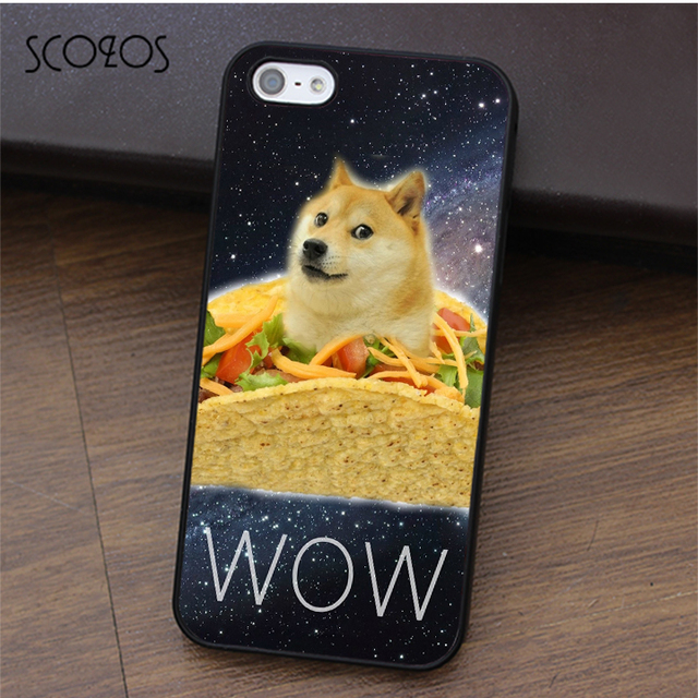 64941fd14e SCOZOS DOGE TACO HIPSTER fashion cell phone case cover for iphone X 4 4s 5  5s Se 5C 6 6s 7 8 6&6s plus 7 plus 8 plus #ca196