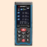 SNDWAY Rangefinder HD Large Display Laser Distance Meter Length Area Volume Pythagoras Measuring Meter Digital Laser