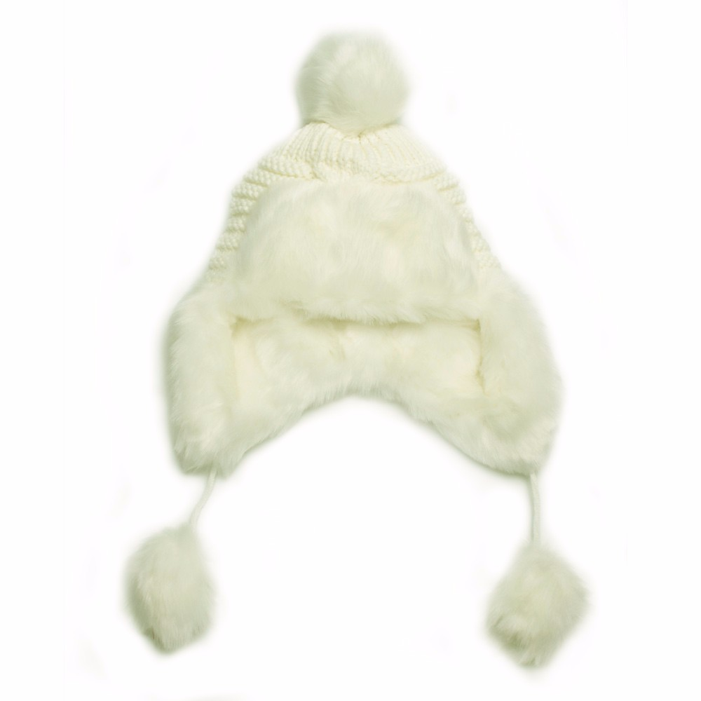 Woman Beanie Knitting Hat 2016 Happy Christmas Hats Bonnet Ladies Pompom Fur Snow Warm Skullies New Women\'s Winter Accessories (9)