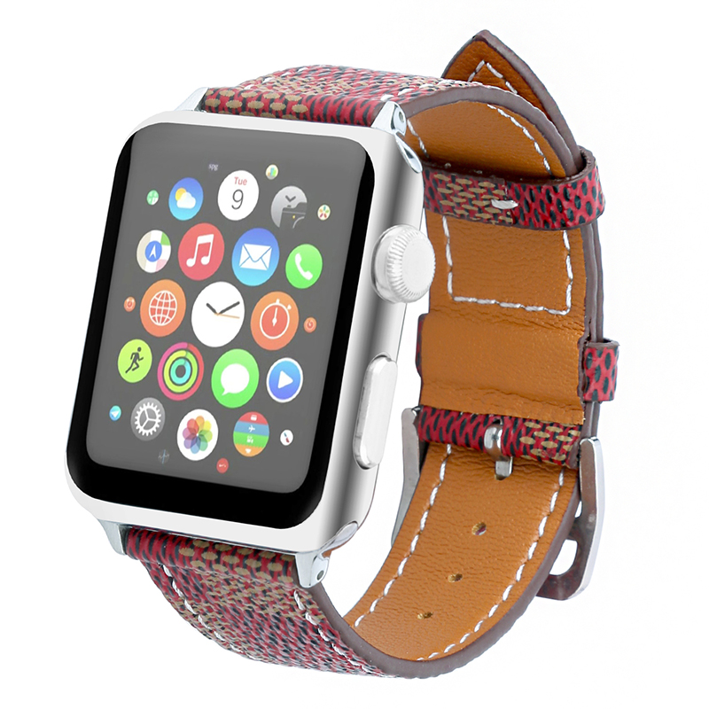 FOHUAS Genuine Leather Loop For Apple Watch Band 42mm iwatch 22mm watch band strap 38mm women bracelet With Adapter Connector fohuas series 2 1 genuine leather loop for apple watch band nylon strap 42mm for apple watch leather strap 38mm bracelet women