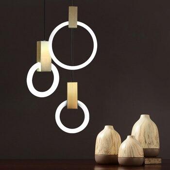Villa Stairs Led Pendant Light Circles T5 Lustre Pendant Ligting Plate Metal Luminaria Indoor Lighting Lamparas Suspension Lamp