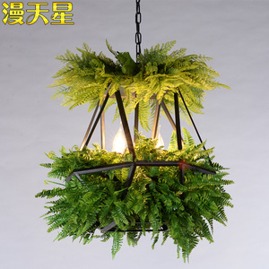 Image 4 - LED Hanging Gardens of Babylon Plants Lamp Pots Potted Nordic Tom Creative Chandelier Lighting Bulb Art Pendant Lamp With Bulb