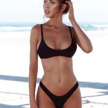 2019 Women Solid Bikini Set Brazilian Push Up Padded Sexy Swimwear Low Waist Newest Swimsuit Female Bathing Suit