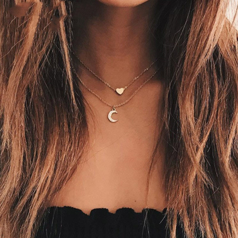 NK150-New-Fashion-Jewelry-Gold-Color-Moon-Star-Sun-Pendant-Necklaces-Crescent-Pendant-Long-Chain-Necklaces