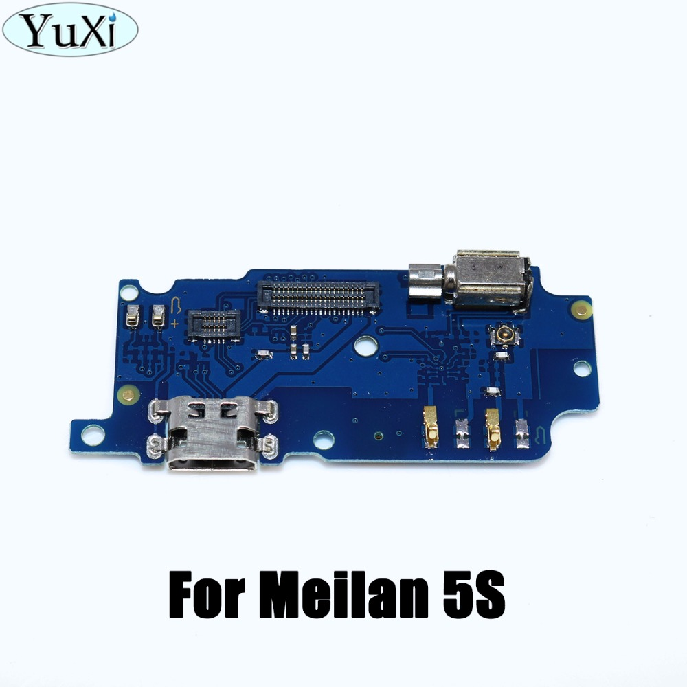YuXi 1pcs Micro Dock Connector Board USB Charging Port Flex Cable For Meizu M5s Repair Parts