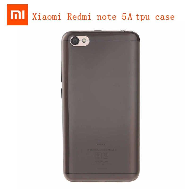 Ban đầu Mềm TPU Trường Hợp Xiaomi Redmi Note 5A Ốp Lưng Điện Thoại Trong Suốt Silicon Bao Vỏ chống Bụi Mịn Fundas CapA bảo vệ Da